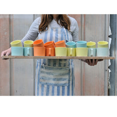 Haand Bright Colored Mugs on Tray