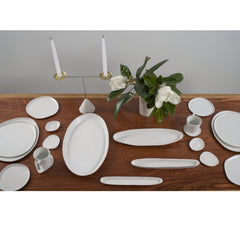 Haand Ripple Series Collection Complete Place Setting and Serving Platters