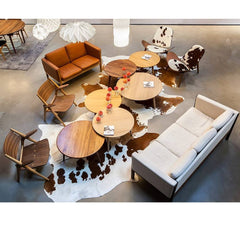 Hans Wegner CH008 Coffee Tables in Carl Hansen & Son LA Showroom