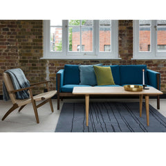 Wegner CH011 Coffee Table with CH25 Chair and CH163 Sofa in London Showroom Carl Hansen & Son