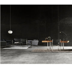 Hans Wegner CH103 Sofa Black Leather Executive Collection Carl Hansen & Son