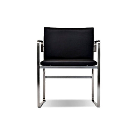 Hans Wegner Stainless Steel Executive Arm Chair CH111