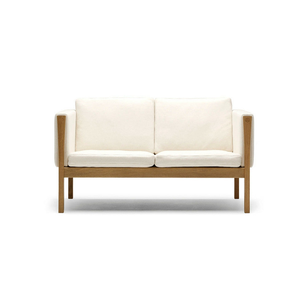 Hans Wegner CH162 Loveseat Oak with Kvadrat Divina Fabric by Carl Hansen & Søn