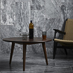 Hans Wegner CH25 Chair and Walnut CH008 Coffee Table in Grey Marble Room