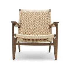 Wegner CH25 Lounge Chair in Oak Smoked Oil