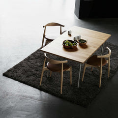 Hans Wegner CH322 Dining Table Overhead View Carl Hansen & Son