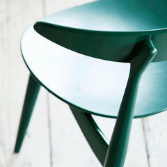Carl Hansen and Son Wegner CH33 Dining Chair Green Lacquer Top Detail