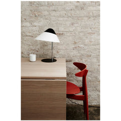 Hans Wegner CH33 Chair Red Orange Lacquer Desk Carl Hansen