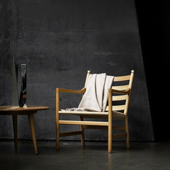 Hans Wegner CH44 Chair in Room Oak Natural Paper Cord
