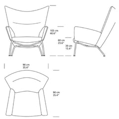 Hans Wegner CH445 Dimensions Carl Hansen and Son