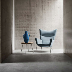 Hans Wegner CH445 Light Blue in Concrete Room Carl Hansen and Son