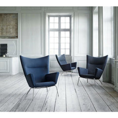 Hans Wegner CH445 Wing Chairs Styled in Room Carl Hansen and Son