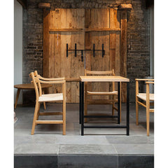 Wegner CH46 Chair Oak in Restaurant Carl Hansen and Son