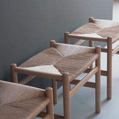Wegner Stools in Entryway Hans Wegner for Carl Hansen & Son