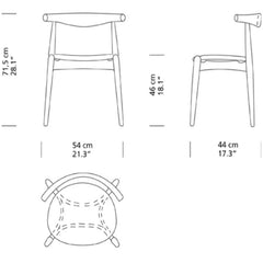 Hans Wegner Elbow Chair CH20 Dimensions Carl Hansen & Son