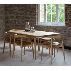 Wegner Elbow Chairs with Dining Table in Loft Carl Hansen & Son
