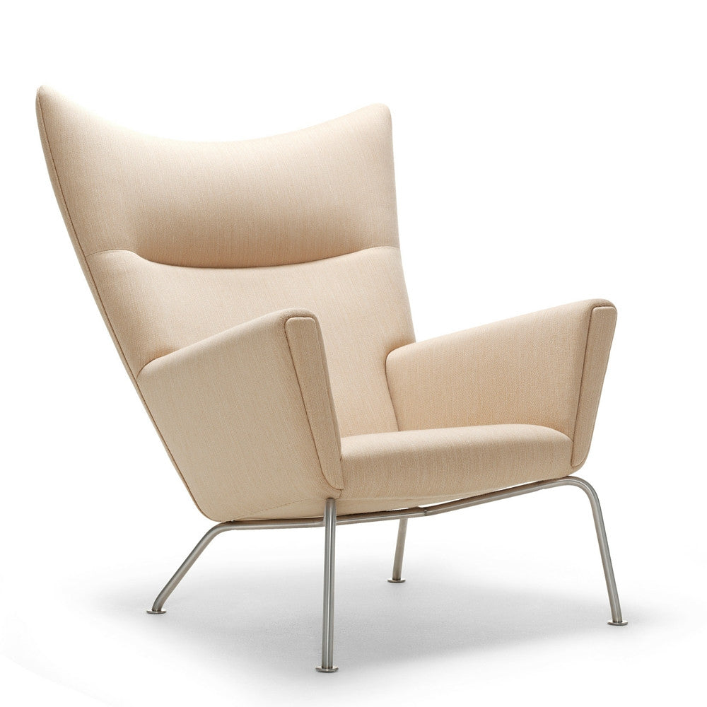 Wegner Modern Wing Chair Ivory CH445 Carl Hansen and Son