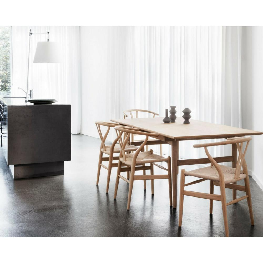 wegner wishbone chair natural wood natural papercord carl hansen