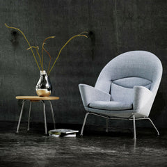 Hans Wegner Oculus Chair CH468 Grey in Room Carl Hansen & Son