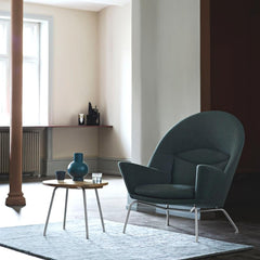 Hans Wegner Oculus Chair in room with CH415 Tray Table Carl Hansen and Son