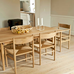 Hans Wegner CH37 Shaker Armchair at Dining Table in Room Carl Hansen & Son