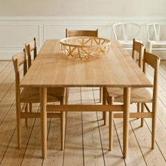 Hans Wegner Shaker Dining Chair CH36 Dining Room with Wishbone Chairs Carl Hansen & Son