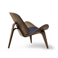 Hans Wegner Shell Chair CH07 Walnut Oil with Canvas 994 Back Carl Hansen and Son