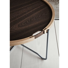 Wegner Tray Table Smoked Oak Detail Carl Hansen & Son