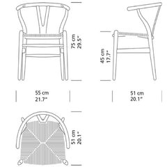 Wegner Wishbone Chair Dimensions