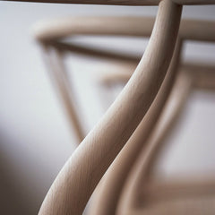 Wegner Wishbone Chair Artistic Curvature Detail