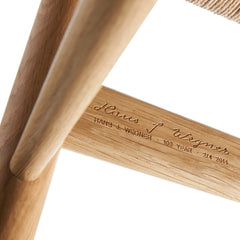 Hans J. Wegner's Signature on Wishbone Chair 100th Anniversary Limited Edition