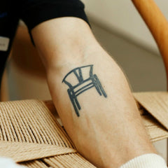 Wegner Wishbone Chair Tattoo on Master Weaver Benny Larsen