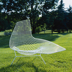 Harry Bertoia Asymmetric Chaise White Outdoors Knoll