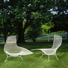 Harry Bertoia Asymmetric Chaise Outdoors Pair Knoll