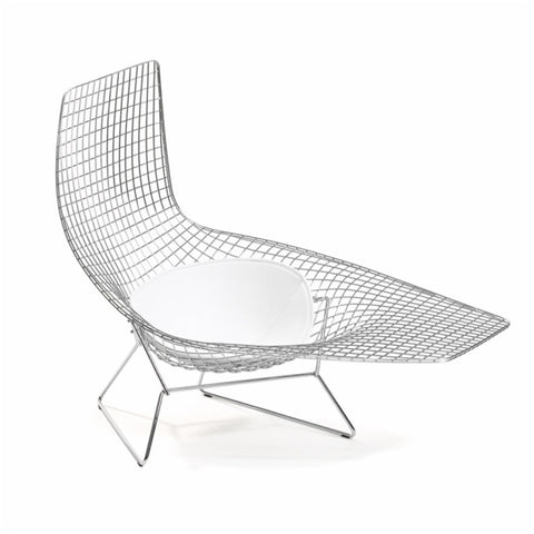 Harry Bertoia Asymmetric Chaise, Optional Cushion