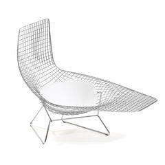 Harry Bertoia Asymmetric Chaise White Cushion Knoll