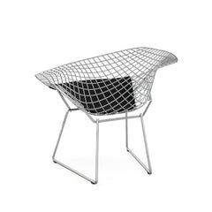 Knoll Bertoia Diamond Chair Chrome Frame Delite Onyx Cushion Back View