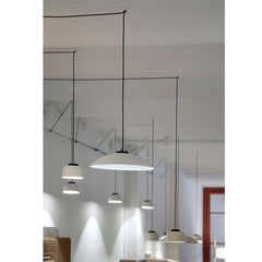HeadHat Small Metallic LED Pendant Lamp with Ceramic Lamps by Santa & Cole