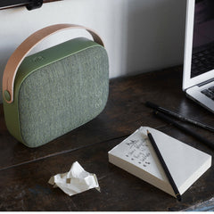 Vifa Helsinki Soundspeaker in Willow Green Kvadrat Fabric