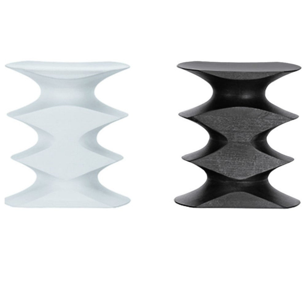 Herzog and de Meuron Hocker Stools White and Espresso Vitra