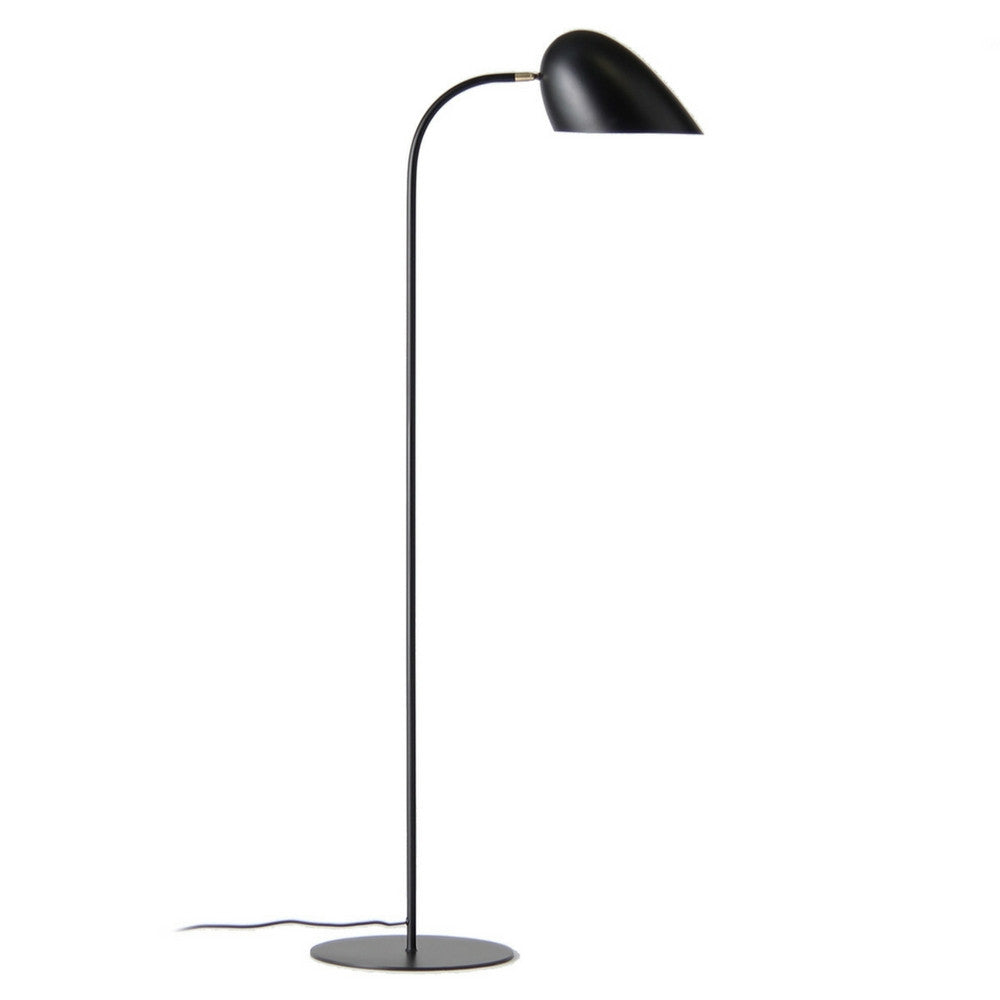 Matte Black Hitchcock Floor Lamp from Frandsen Lighting