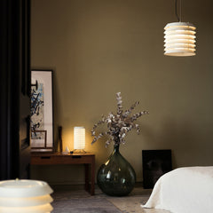 Ilmari Tapiovaara Maija Suspension Lamp in Bedroom by Santa & Cole