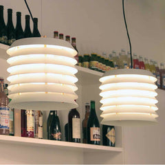 Ilmari Tapiovaara Maija Suspension Lamps in Kitchen by Santa & Cole