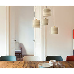 Ilmari Tapiovaara Maija Suspension Lamps over Dining Table by Santa & Colce