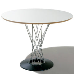 Isamu Noguchi Cyclone Dining Table White with Black Base Knoll