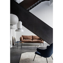 And Tradition Formakami Pendant Lights by Jaime Hayon in room with Catch Lounge Chair and Cloud Sofa