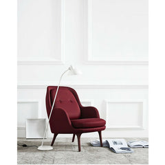 Jaime Hayon Fri Chair Burgundy Kaiser Idell Floor Lamp Fritz Hansen