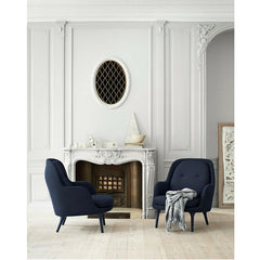 Jamie Hayon Fri Chairs Dark Blue by Fireplace Fritz Hansen