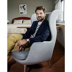 Jaime Hayon in Ro Chair in Royal Copenhagen Hotel Fritz Hansen