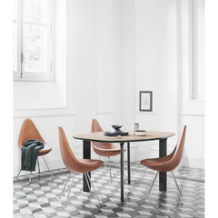 Jaime Hayon JH43 Analog Table with Oak Veneer and Black Oak Legs for Fritz Hansen